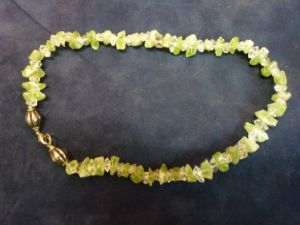 Double terminated Quartz and Peridot necklace (202)
