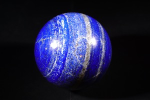 Polished Lapis Lazuli Sphere, from Afghanistan (No.53)