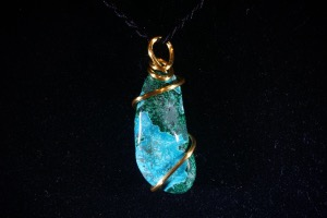 Chrysocolla & Malachite Hand Wired Pendant (No.739)