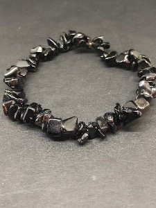 Obsidian chip bead Bracelet (Selected)