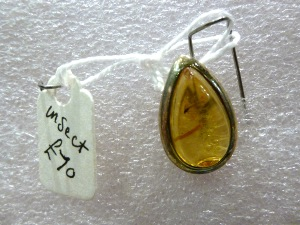 Insect in Amber - Sterling Silver Pendant  (No.22)