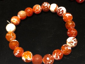 Agate - Fire Agate Elasticated Bracelet (111949)