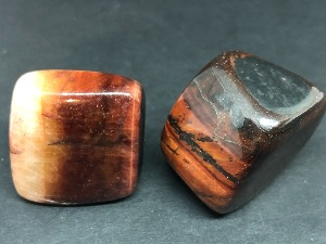 Tiger Eye - Red - 3cm Tumbled Stone.