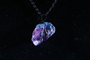 Purple Fluorite Hand Wired Pendant (No.112)