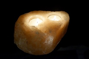 Himalayan Salt Lamp Double T-Light (No.2)