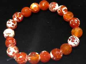 Agate - Fire Agate Elasticated Bracelet (111948)
