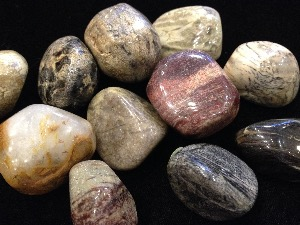 Jasper - Satin Leaf - Tumbled Stone