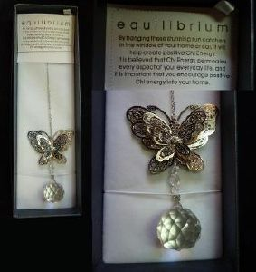 Equilibrium suncatcher - Butterfly (Sphere clear)