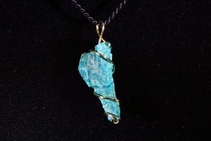 Chrysocolla Hand Wired Pendant (No.22)