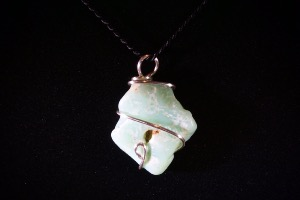 Chrysoprase Hand Wired Pendant (No.330)