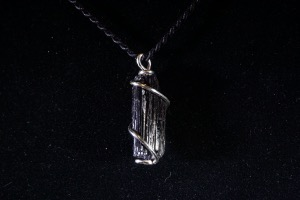 Black Tourmaline Hand Wired Pendant (No.407)