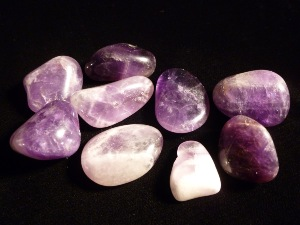 Amethyst - Chevron - Small Tumbled Stone