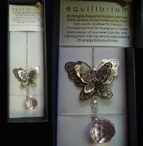 Equilibrium suncatcher - Butterfly (Sphere pink)