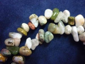 Mixed tumbled gem necklace