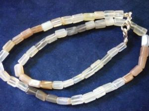 Moonstone - Necklace -Tube Beads