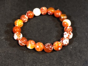 Agate - Fire Agate Elasticated Bracelet( 2)