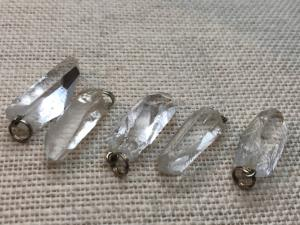 Natural Quartz Point Pendant with silver plated fittings (Selected)