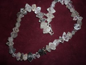 Doubled Terminated Quartz Necklace and bracelet (590)