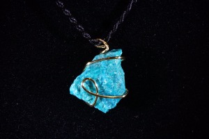Chrysocolla Hand Wired Pendant (No.21)