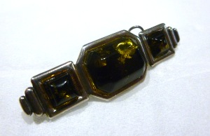 Amber - Green Amber Brooch (No.27)