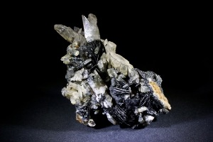 Tourmaline, Hematite and Quartz, from Guang Dong Province, China (No.74)