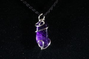 Amethyst Hand Wired Pendant (No.396)