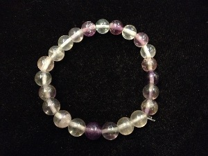 Fluorite - Rainbow - 8mm Round Beads - Elasticated Bracelet