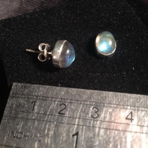 Labradorite - Stud Earrings - Silver