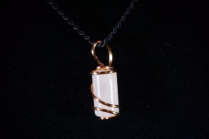 Rose Quartz Hand Wired Pendant (No.360)