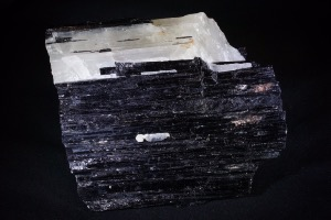 Black Tourmaline with Quartz and Mica, from Brazil (No.64)