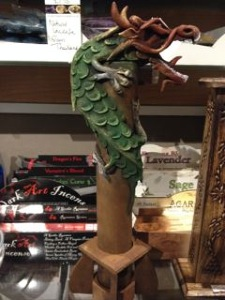 Dragon tower incense holder for sticks or cone