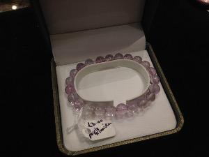 Fluorite - Purple - 8mm Round Beads - Elasticated Bracelet
