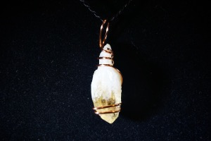 Citrine  Point, Hand Wired Pendant (No.748)