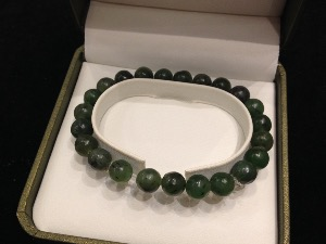 Jade - Nephrite - 8mm Round Beads - Elasticated Bracelet