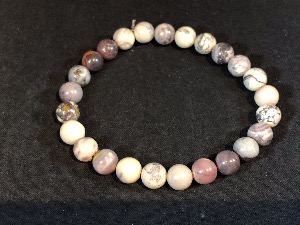Jasper - Porcelain - 8mm Round Beads Elasticated Bracelet (2)