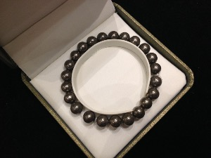 Pyrite - 8mm Round Beads - Elasticated Bracelet