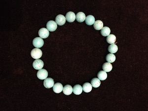 Turquoise - Stabilised - 8mm Round Beads - Elasticated Bracelet
